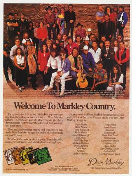 &#8217;93 Nashville Country Music Stars Dean Markley Photo (1993)