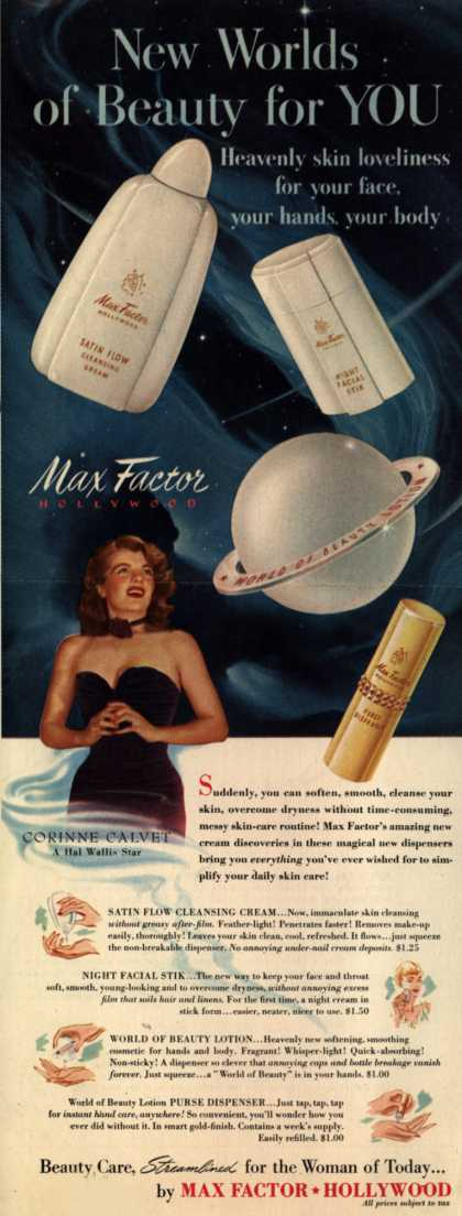 Max Factor's Skin Care Products – New Worlds of Beauty for You (1950)