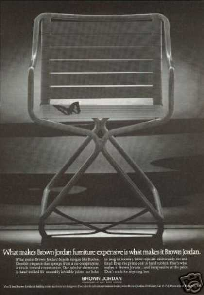 Brown Jordan Kailua Chair Butterfly Photo (1972)