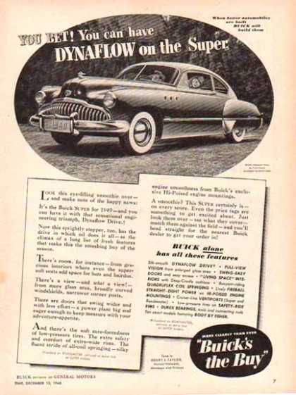 Buick Car – Buick Eight with Dynaflow – Sold (1948)