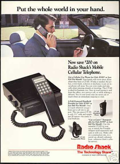 Mobile Cell Cellular Phone Photo Radio Shack (1989)