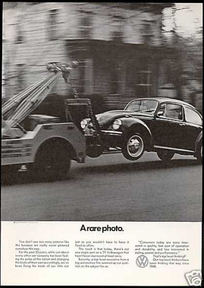 VW Volkswagen Bug Rare Photo Vintage (1971)