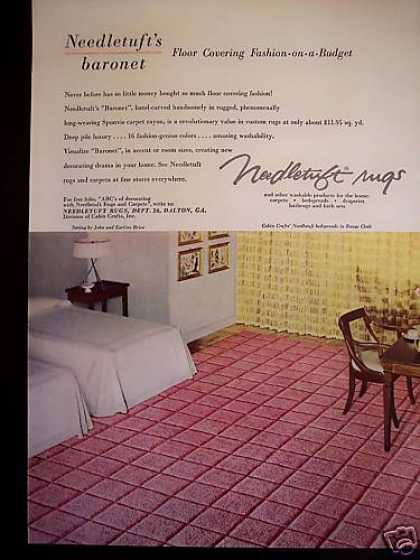Needletuft Rugs Pink Carpet 50's Decor (1953)