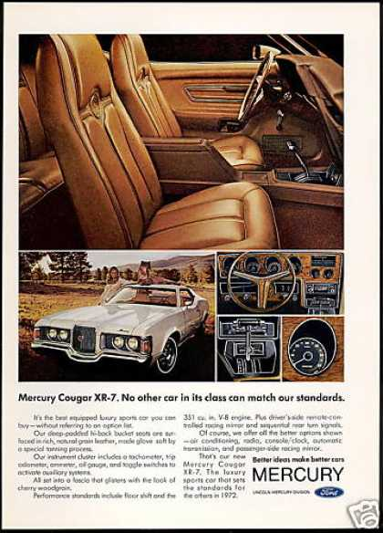 Mercury Cougar XR-7 XR7 Car 5 Photo (1972)