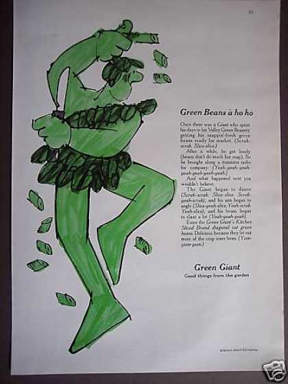 Dancing Jolly Green Giant Green Beans a Ho Ho (1967)