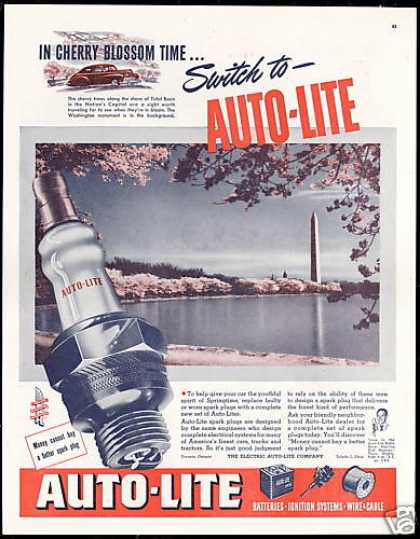 Washington Monument Auto Lite Spark Plug (1947)