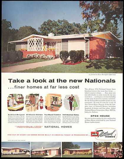 NH National Homes Corporation Photo Vintage (1956)