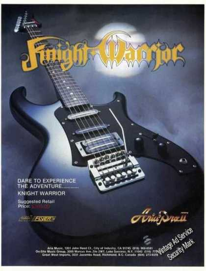 Knight Warrior Guitar Aria Pro Ii (1985)