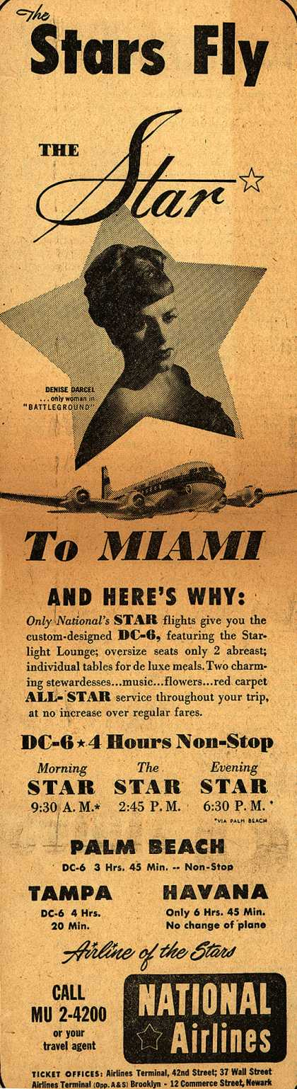 National Airline's Star – The Stars Fly THE Star (1950)