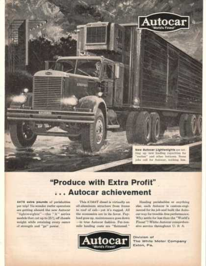 Autocar Reefer Truck Produce With Extra Profit (1960)