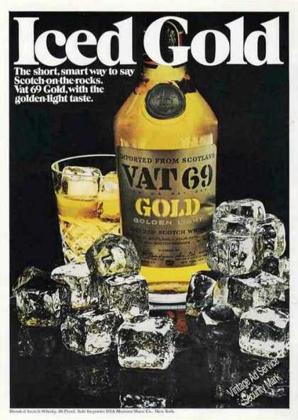 "Vat 69 Gold ""Iced Gold"" Scotch (1972)"