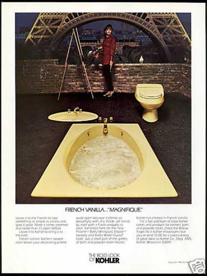 Eiffel Tower Artist Kohler Bathroom Fixture (1982)