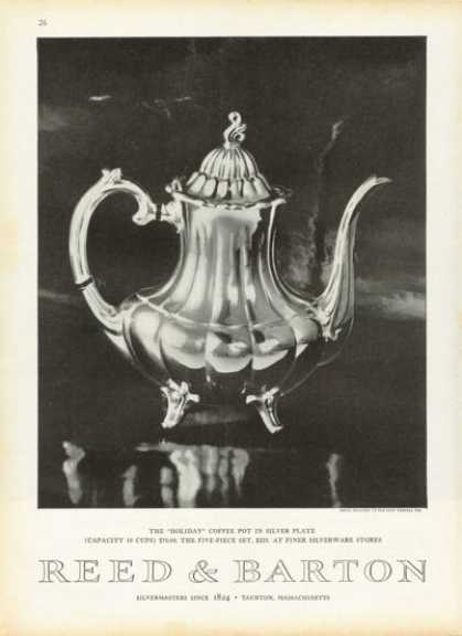 Reed & Barton Silver Plate Coffee Pot (1958)