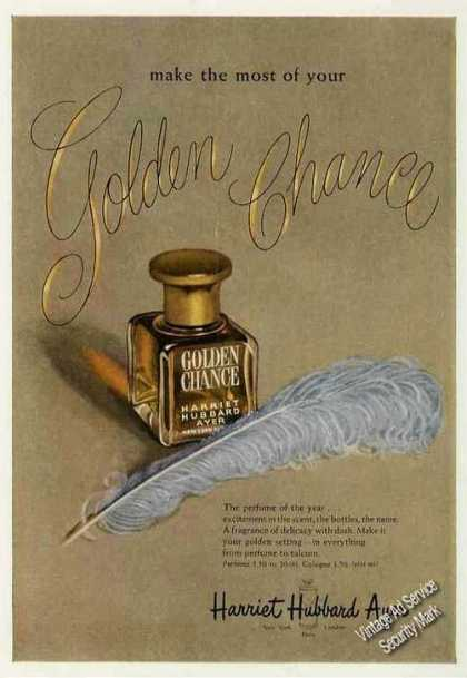 Golden Chance Perfume Harriet Hubbard Ayer (1949)