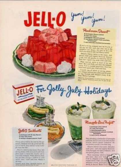 "Jello Ad ""For Jolly July... (1950)"