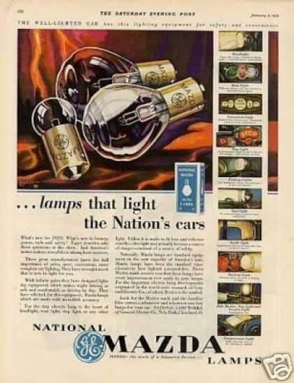 Ge National Mazda Lamps Color (1929)