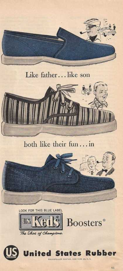 Us Keds Boosters Shoes (1957)
