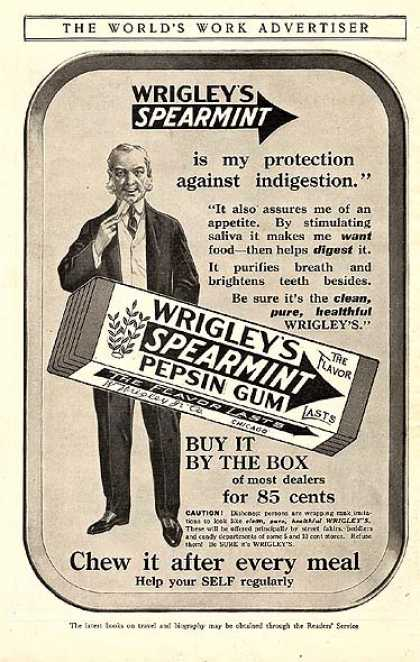 Wrigley&#8217;s Spearmint Pepsin Gum (1914)
