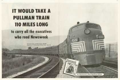 Newsweek Ad New York Central Pullman Train Engine (1955)