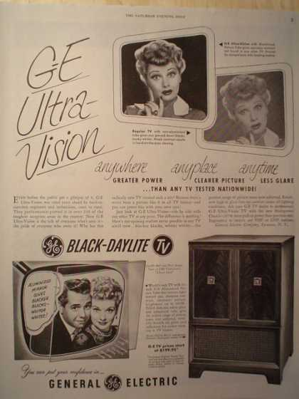 GE Ultra Vision TV Lucy and Desi (1952)