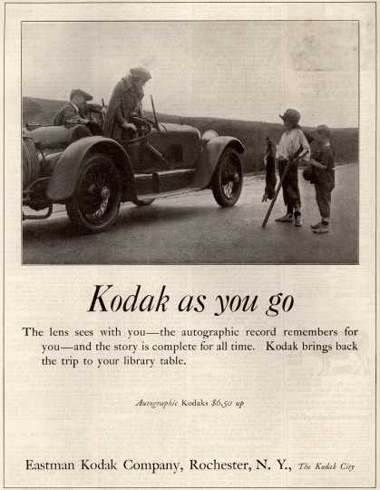 Kodak's Autographic cameras – Kodak as you go (1922)