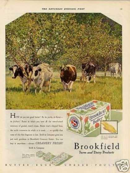Swift & Company Brookfield Butter (1929)
