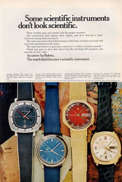 Bulova Accrtron Watch Fashion Print (1971)