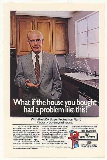 Harry Morgan ERA Real Estate Sink Leak Photo (1984)