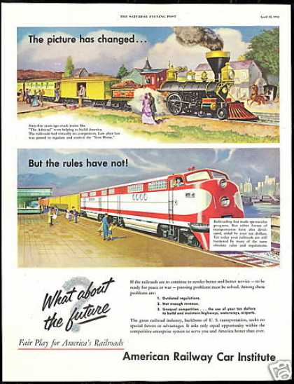 American Railway Car Institute Train RR Vintage (1952)