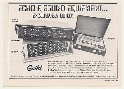 Guild A-606-TR Echorec PA-602-8 E-4 Copicat (1971)