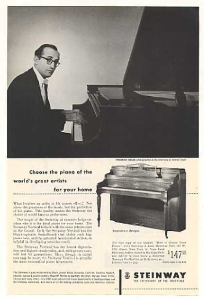 Friedrich Gulda Steinway Piano A Siegel Photo (1953)