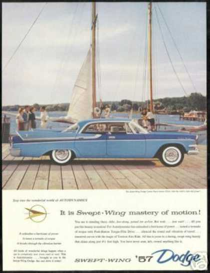 Dodge Royal Lancer Car 4dr Sailboat Dock (1957)