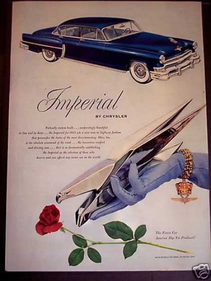 Blue Chrysler Imperial Car Auto (1952)