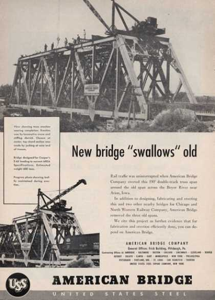 American Bridge Co Train Railroad (1950)