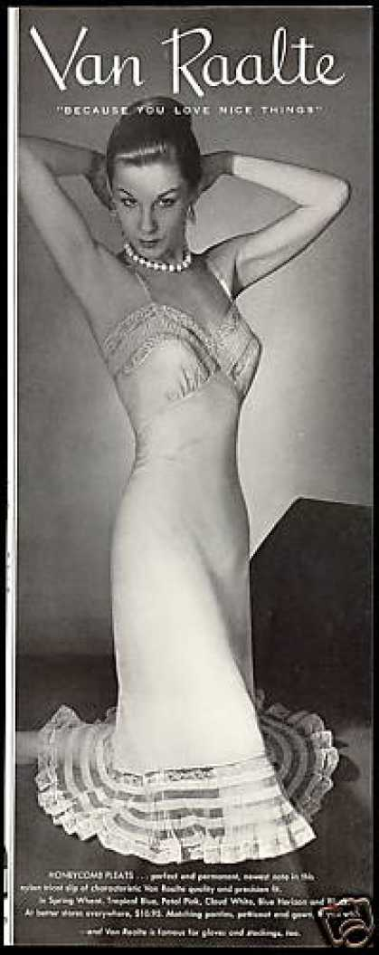 Van Raalte Women's Nylon Slip Lingerie Photo (1954)