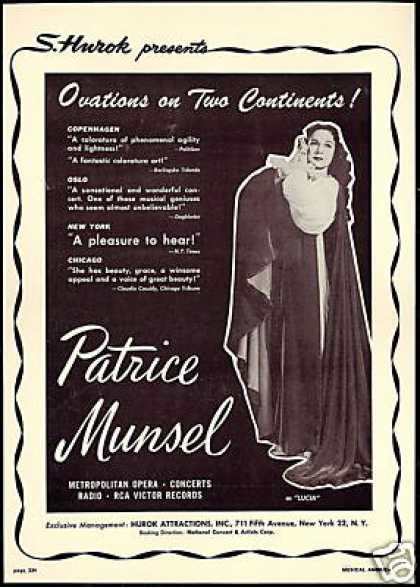 Patrice Munsel Photo Review Booking (1949)