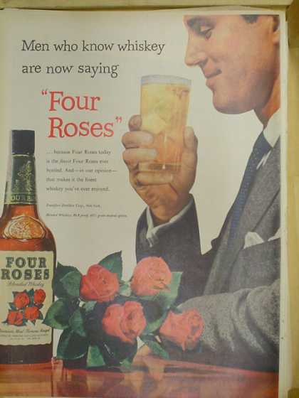 Four Roses Blended Whiskey. (1953)
