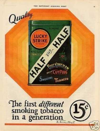 Lucky Strike Half and Half Tobacco Color (1926)