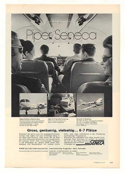 Piper Seneca Airplane Aircraft German (1971)