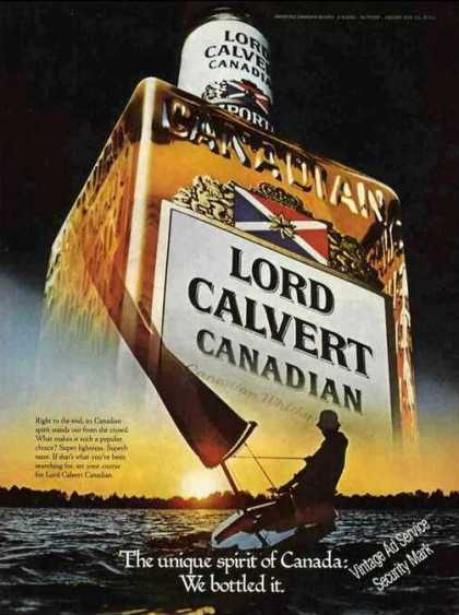 Lord Calvert Canadian Unique Spirit Bottled (1979)