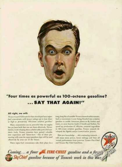Texaco Wwii Super-fuel Concentrates (1944)