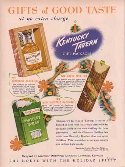 Kentucky Tavern Christmas – Gifts of Good Taste (1949)