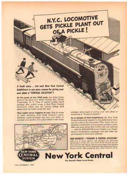 New York Central – NYC Gets Plant Out of Pickle (1949)
