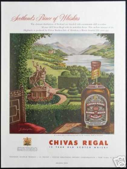 Chivas Regal Robert the Bruce Schroyer Art (1954)