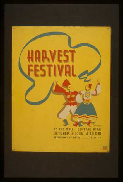 Harvest festival on the mall, Central Park / M. Weitzman. (1936)