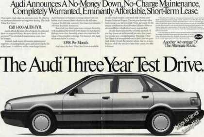 Audi Three Year Test Drive Large Photo (1989)