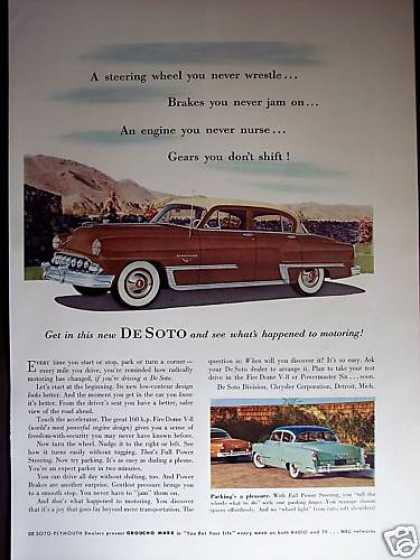 Brown Two-tone Desoto Car Photo (1953)
