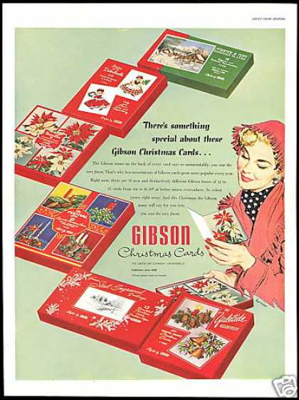 Gibson Christmas Cards Lucia Art (1953)