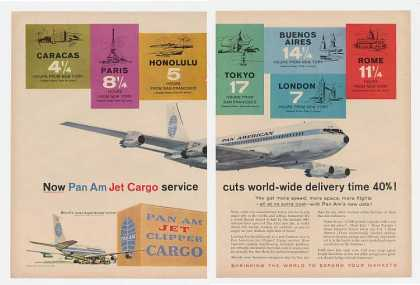 Pan Am Airlines Jet Clipper Cargo Service 2-Pg (1959)