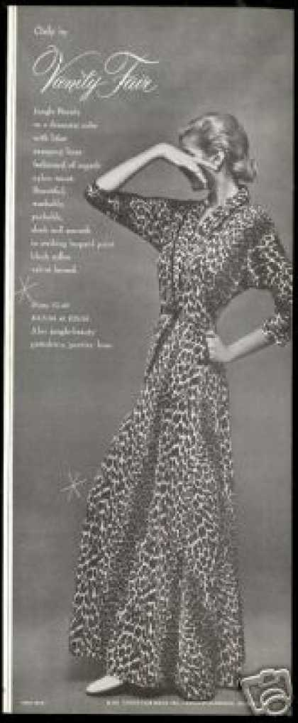 Vanity Fair Leopard Robe Lingerie Photo (1954)